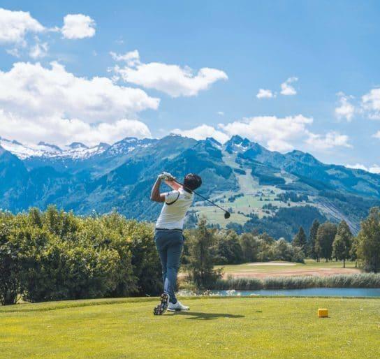 Golfplatz Zell am See Kitzsteinhorn Abschlag